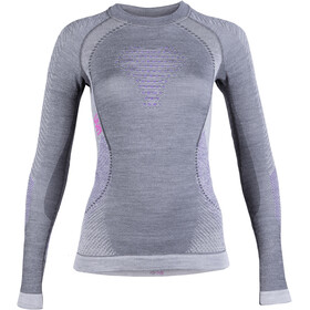 UYN Fusyon UW LS Shirt Dame anthracite/purple/pink